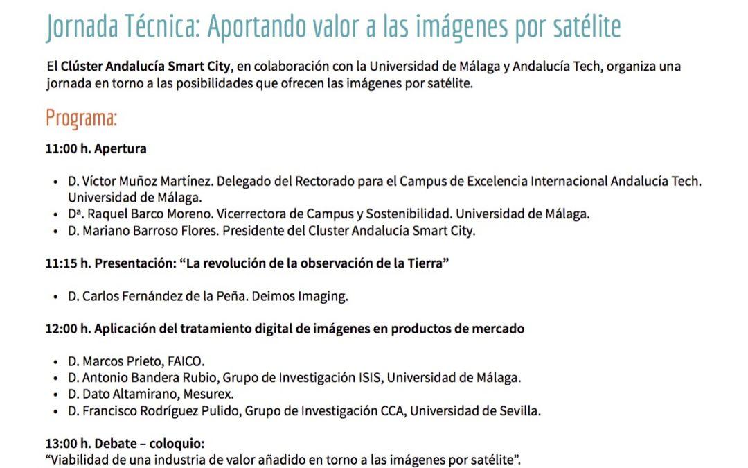 26/10 Jornada Técnica: Aportando valor a las imágenes por satélite