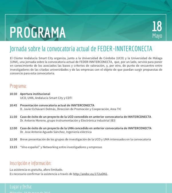18/05 Jornada sobre la convocatoria actual de FEDER-INNTERCONECTA