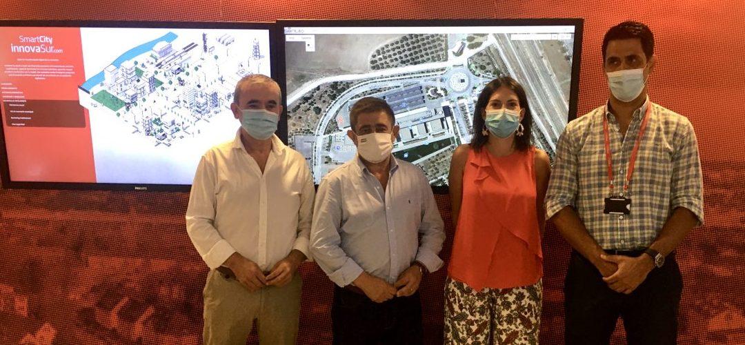 La eurodiputada Adriana Maldonado visita el laboratorio Smart City de InnovaSur localizado en Geolit
