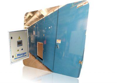 Merger Ingeniería – Sistema automatizado de atemperado de resina mediante aerotermia